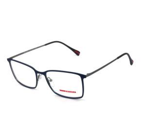 Prada VPS 51L - Azul Fosco/Grafite 370-101 56mm - Óculos de Grau