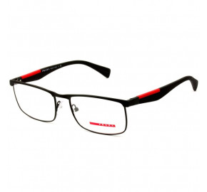 Óculos Prada Linea Rossa VPS 54F - Preto Fosco/Vermelho DG0-1O1 55mm - Óculos de Grau