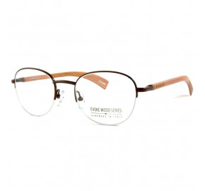 Óculos de Grau Evoke Wood Series 05 Premium Collection Brown Dark Laser Demo Lens