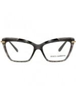 Dolce & Gabbana DG5025 - Preto/Dourado 504 53mm - Óculos de Grau
