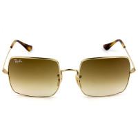 Ray Ban Square RB1971 - Dourado/Marrom Degradê 914751 54mm - Óculos de Sol