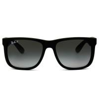 Ray Ban Justin RB4165L - Preto/Cinza Degradê Polarizado 622/T3 57mm - Óculos de Sol