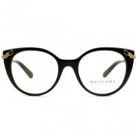 Bvlgari 4150 - Preto/Dourado 501 51mm - Óculos de Grau