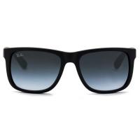 Ray Ban Justin RB4165L - Preto Fosco/Cinza Degradê 601/8G 55mm - Óculos de Sol