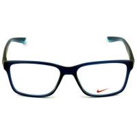Nike Live Free 7091 - Óculos de Grau 411 Azul Marinho Fosco Lentes 54mm