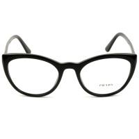 Prada VPR07V Preto Brilho 1AB-1O1 53mm - Óculos de Grau