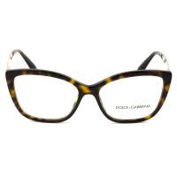 Dolce & Gabbana DG3280 Turtle/Dourado 502 54mm - Óculos de Grau