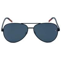 Tommy Hilfiger TJ0008/S Preto Fosco/Cinza 003IR 60mm - Óculos de Sol