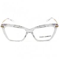 Dolce & Gabbana DG5025 - Transparente/Dourado 3133 53mm - Óculos de Grau