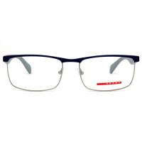 Prada Linea Rossa VPS54F - Azul/Cinza Fosco TWQ-101 55mm - Óculos de Grau