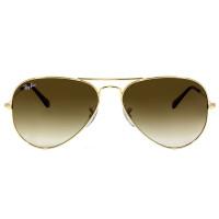 Ray Ban Aviador RB3025L - Dourado/Marrom Degradê 001/51 62mm - Óculos de Sol