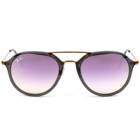 Ray Ban Highstreet RB4253 - Cinza Translúcido/Roxo Espelhado Degradê 6237/7X 53mm - Óculos de Sol