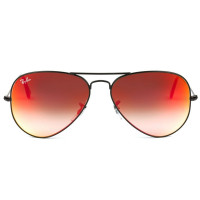 Ray Ban Aviador RB3025L - Preto/Vermelho Espelhado 002/4W 58mm - Óculos de Sol