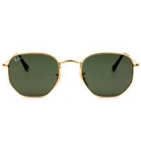 Ray Ban Hexagonal RB3548N Dourado/G15 001 54mm - Óculos de Sol