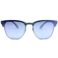 Ray Ban Blaze Clubmaster RB3576-N - Dourado/Azul Semi-Espelhado 9039/1U 47mm - Óculos de Sol