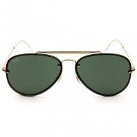 Ray Ban Blaze Aviador RB3584-N - Dourado/G15 9050/71 58mm - Óculos de Sol