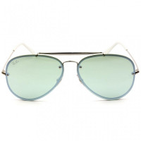Ray Ban Blaze Aviador RB3584-N - Prata/Verde Semi-Espelhado 9051/30 61mm - Óculos de Sol