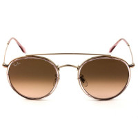 Ray Ban Round Ponte Dupla RB3647-N - Rose/Marrom Degradê 9069/A5 51mm - Óculos de Sol