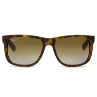 Ray Ban Justin RB4165 - Turtle/Marrom Degradê Polarizado 865/T5 55mm - Óculos de Sol