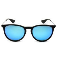 Ray Ban Erika RB4171 - Preto/Azul Espelhado 622/55 54mm - Óculos de Sol