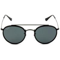 Ray Ban Round Ponte Dupla RB3647-N - Preto/G15 002/R5 51mm - Óculos de Sol