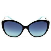 Tiffany & Co TF 4144-B - Óculos de Sol Preto Degradê 8055/9S Lentes 57MM