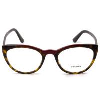 Prada VPR07V Turtle/Vermelho 320-1O1 51mm - Óculos de Grau