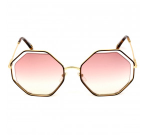 Chloé Poppy CE132S - Turtle/Rosa Degradê 211 58mm - Óculos de Sol