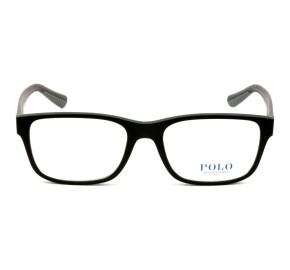 Polo Ralph Lauren PH2195 Preto Fosco/Cinza 5284 55mm - Óculos de Grau