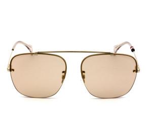 Tommy Hilfiger TH1574/S - Dourado/Marrom Translúcido J5G70 59mm - Óculos de Sol