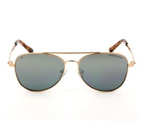 Michael Kors MK1045 Dourado/Cinza Espelhado 110882 56mm - Óculos de Sol