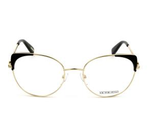 Victor Hugo VH1271 - Preto/Dourado C.0300 54mm - Óculos de Grau