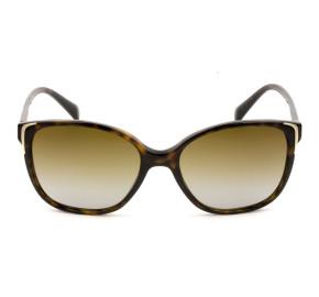 Prada SPR01O - Turtle/Marrom Degradê Polarizado 2AU-6E1 55mm - Óculos de Sol