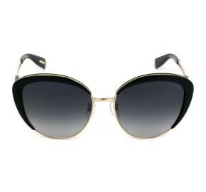 Victor Hugo SH1270 - Preto Brilho/Cinza Degradê 0700 58mm - Óculos de Sol