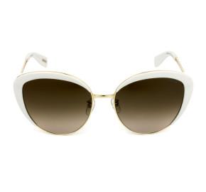 Victor Hugo SH1270 - Branco/Marrom Degradê 0847 58mm - Óculos de Sol