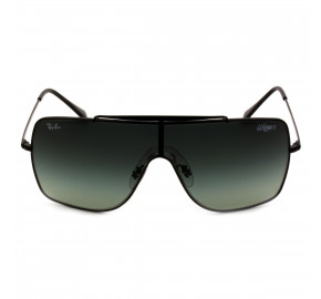 Ray Ban Wings II RB3697 - Preto/Cinza Degradê 002/11 35mm - Óculos de Sol
