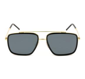 Dolce & Gabbana DG2220 Preto/Cinza Polarizado 02/81 57mm - Óculos de Sol