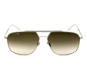 Lacoste L218SPC - Prata/Marrom Degradê 028 60mm - Óculos de Sol