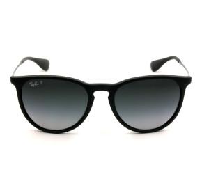 Ray Ban Erika RB4171 - Preto Fosco/Cinza Degradê Polarizado 622/T3 54mm - Óculos de Sol