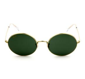 Ray Ban Oval RB1970 - Dourado/G15 9196/31 54mm - Óculos de Sol