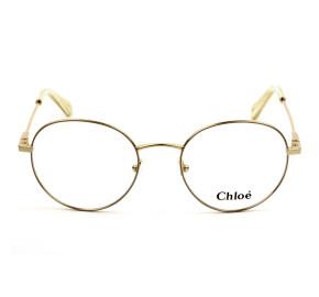 Chloé CE2136 - Bege/Dourado 743 50mm - Óculos de Grau