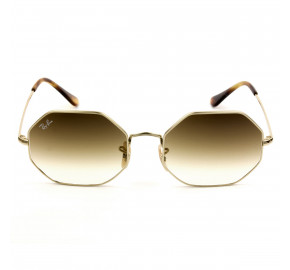 Ray Ban Octagonal RB1972 - Dourado/Marrom Degradê 9147/51 54mm - Óculos de Sol