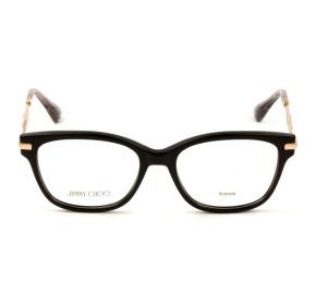 Jimmy Choo JC181 - Preto/Dourado 06K 51mm - Óculos de Grau
