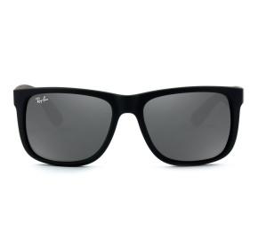Ray Ban Justin RB4165L - Preto Fosco/Cinza Espelhado 622/6G 57mm - Óculos de Sol