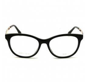 Jimmy Choo JC202 - Preto/Dourado 807 52mm - Óculos de Grau