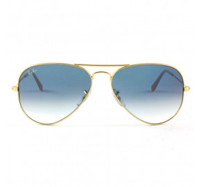 Ray Ban Aviador RB3025L Dourado/Azul Degrade 001/3F 55mm - Óculos de Sol