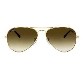 Ray Ban Aviador RB3025L - Dourado/Marrom Degradê 001/51 58mm - Óculos de Sol