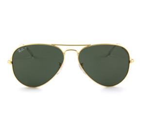 Ray Ban Aviador RB3025L - Dourado/G15 Polarizado 001/58 62mm - Óculos de Sol