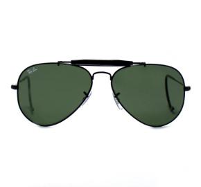 Ray Ban Aviador Outdoorsman RB3030 - Preto/G15 L9500 58mm - Óculos de Sol