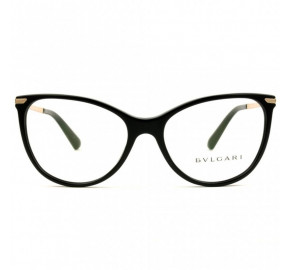 Bvlgari 4121 - Preto/Dourado 501 55mm - Óculos de Grau